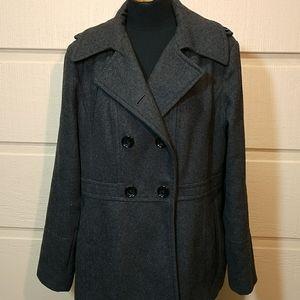 Michael Kors charcoal grey wool blend coat XL